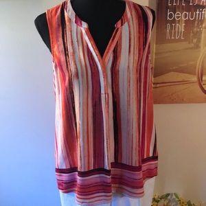 Pink striped tunic